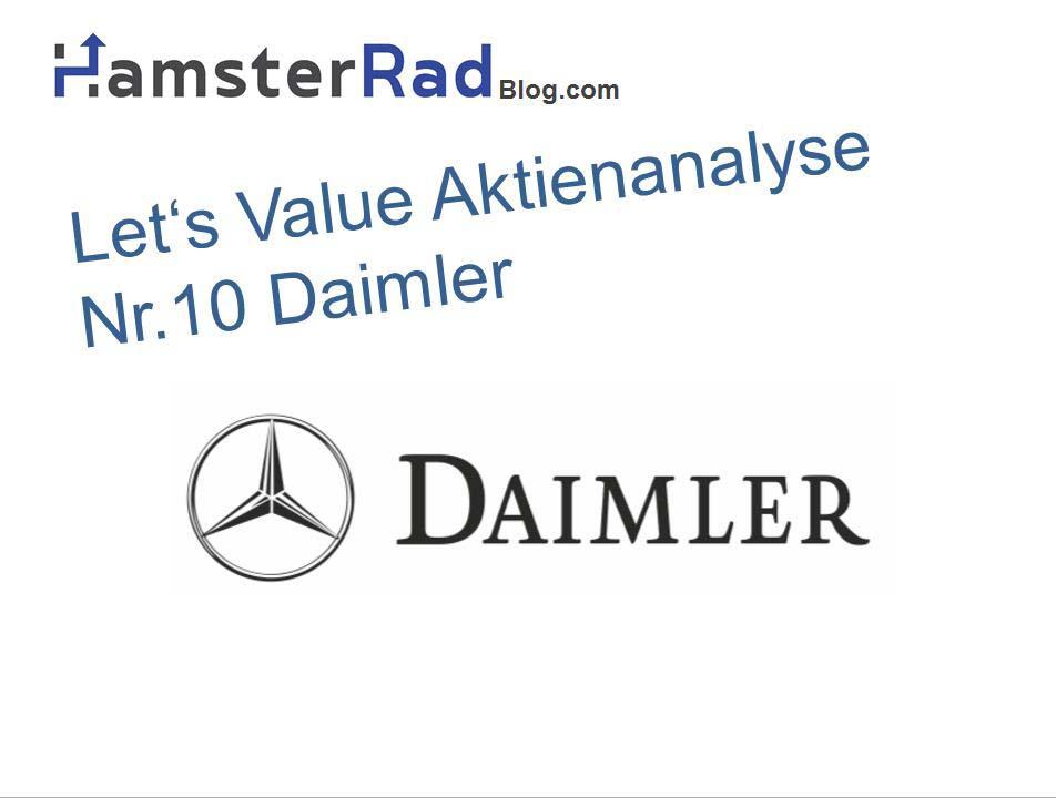 Die Daimler Aktie in der fundamentalen Analyse. Kann man die Daimler Aktie kaufen? Mehr in der Analyse