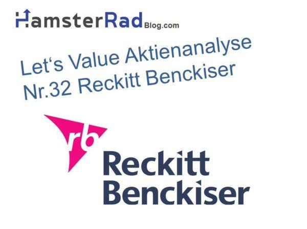 Das Titelbild zur Aktienanalyse der Reckitt Benckiser Aktie
