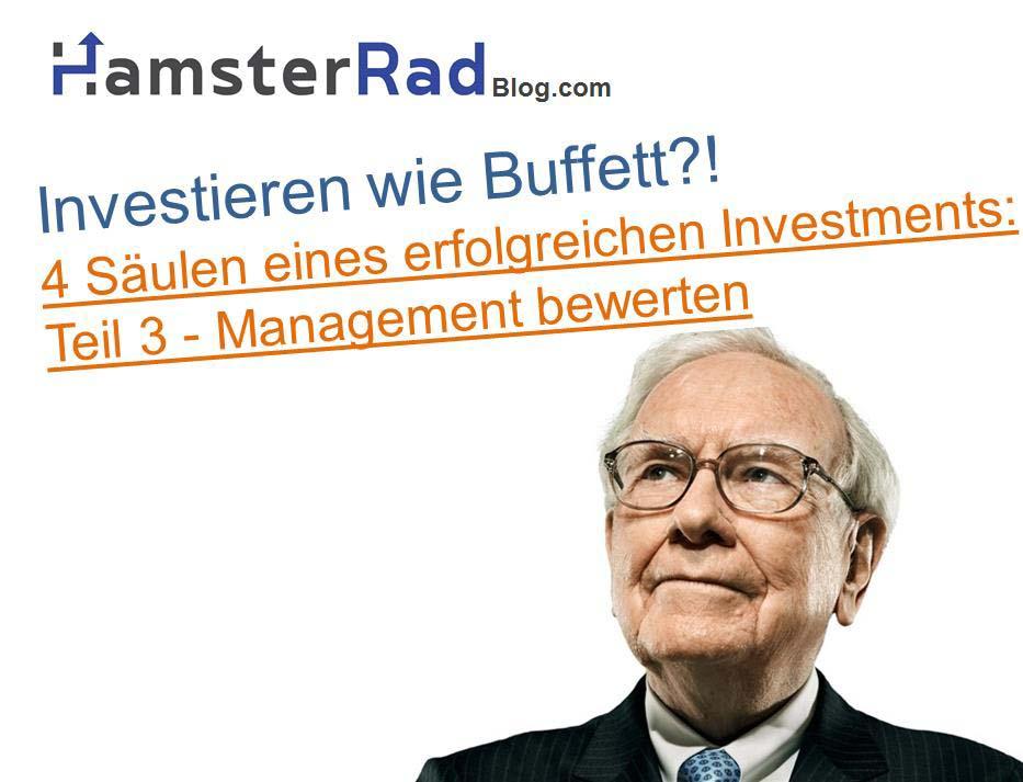 Jeder Investor sollte ein Management bewerten.